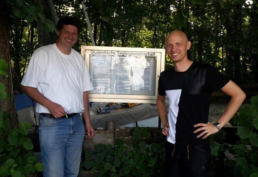 Der Stuttgarter Vorstand: Florian Heckert (1. Vorsitzender, im Bild rechts) und Karsten Pflieger (2. Vorsitzender).